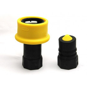 Quick coupler male DRY SHUT threaded female 1 BSP