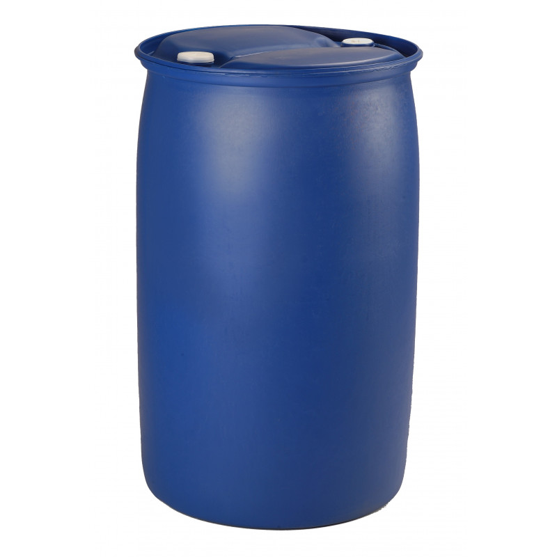 Was 220 liters blue with bungs and handle