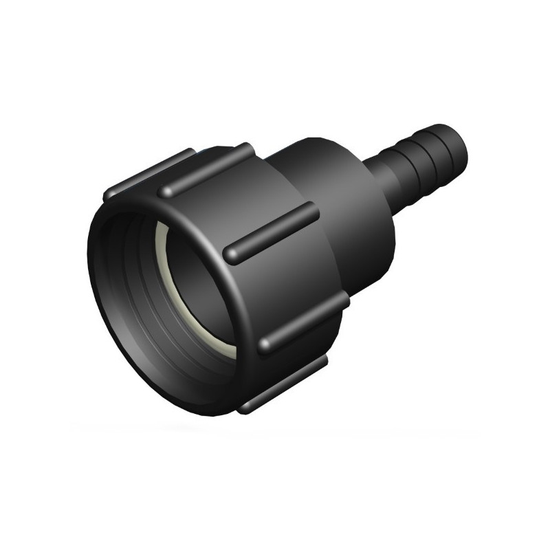 Female connector S60x6 - straight splined male 19mm