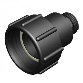 "2 ""S60x6 female fitting with rotating nut - 1"" male, not gas"