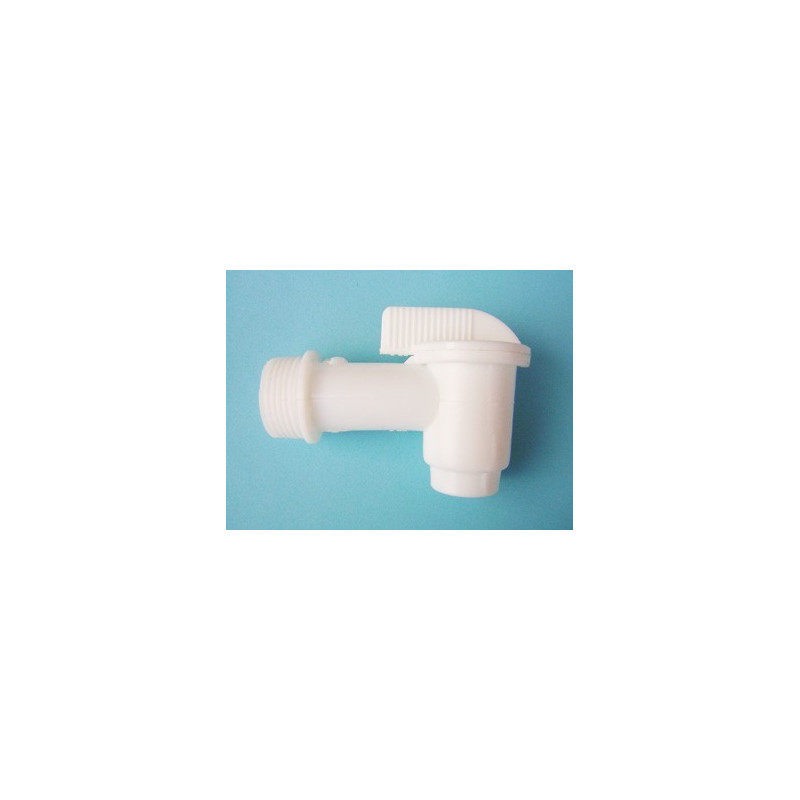 White 3/4 inch faucet for cans