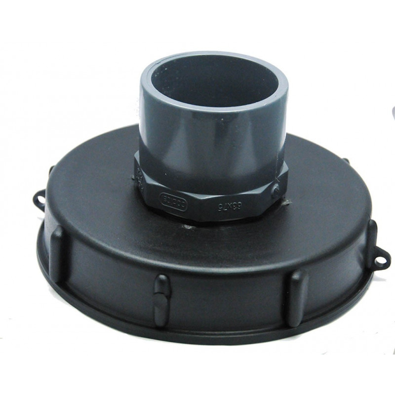 Lid 15cm for 1000L tank with PVC 63/75 inlet