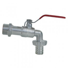 Ball valve threaded 1 inch exit 1''1 / 4 male 25mm hose barb
