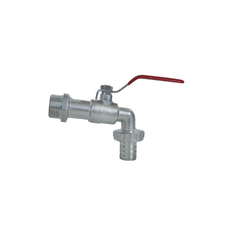 Ball Valve Thread 1 Inch, Outlet 1''1 / 4, Fluted Tip Male 25mm