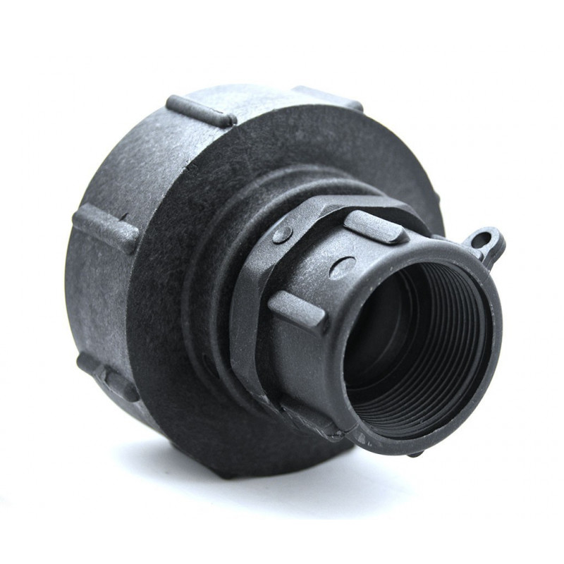 S100x8 high-strength polypropylene female fitting with female outlet 1''1 / 2 BSP