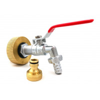 Female connector S60x6 brass - chrome plated brass tap 3/4 inch