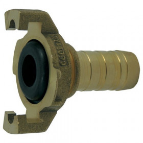 Express coupling with machined fluted shank with collar and seal