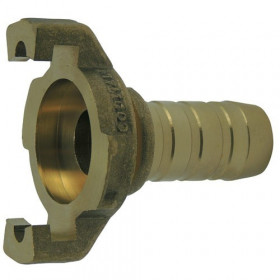 Express coupling with machined fluted shank with flange without seal