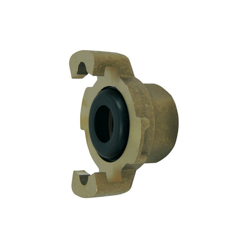 Express fitting with threaded end, with gasket