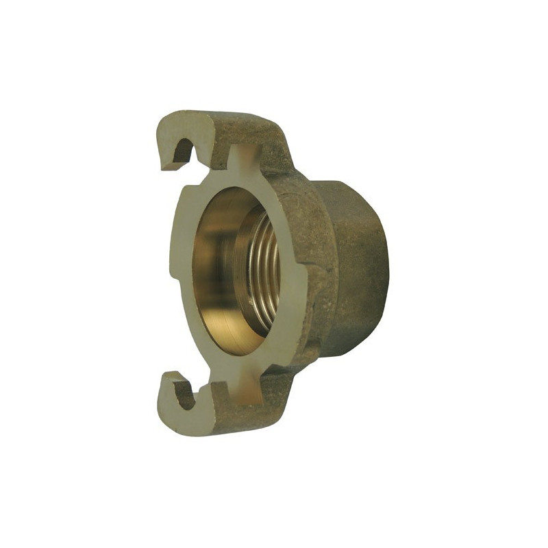 Express fitting with threaded end, without brass seal