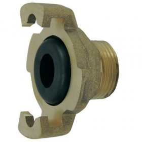 Express fitting with threaded end, supplied with assembled seal