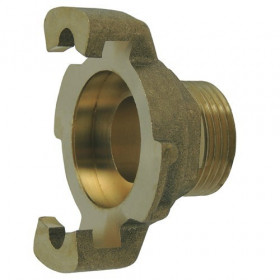 Brass Express fitting with threaded end, seamless