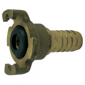 Express coupling in straight brass - patented ® model - supplied with gasket
