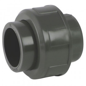 Union 3 pieces Female / female PVC with O-ring in EPDM