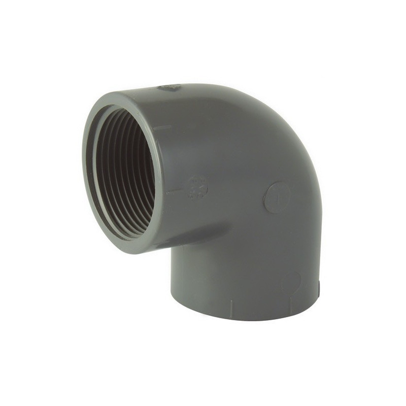 Female 90 ° elbow / female to screw in PVC