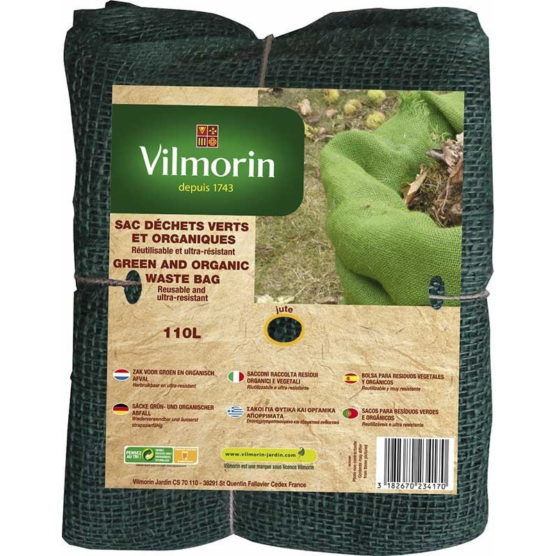110L Green and Organic Waste Bags in Jute