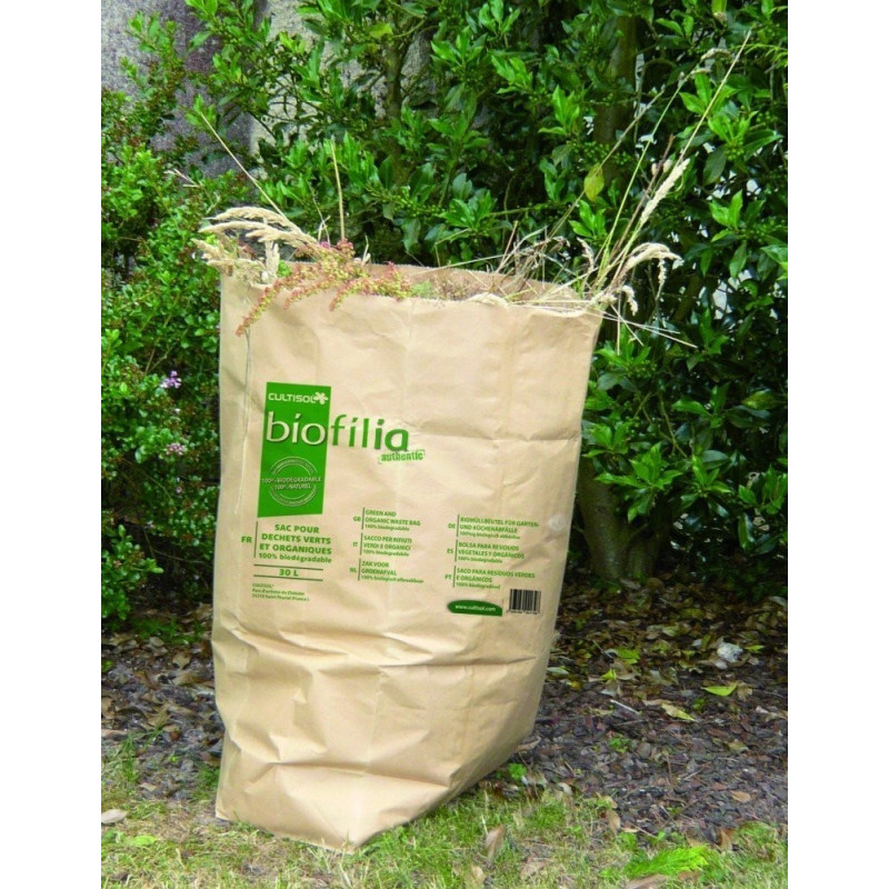 Green and organic waste paper bags