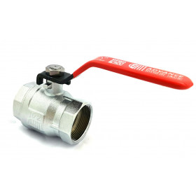 1 inch 1/2 female chromed brass female ball valve