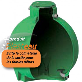 Ecoregul Rainwater control tank, low outlet with vortex effect