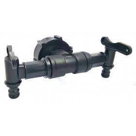 Connection S60x6 with 2 faucets and nose quick coupling style Gardena