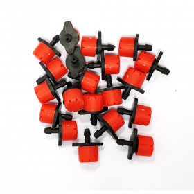 Set of 20 red drippers