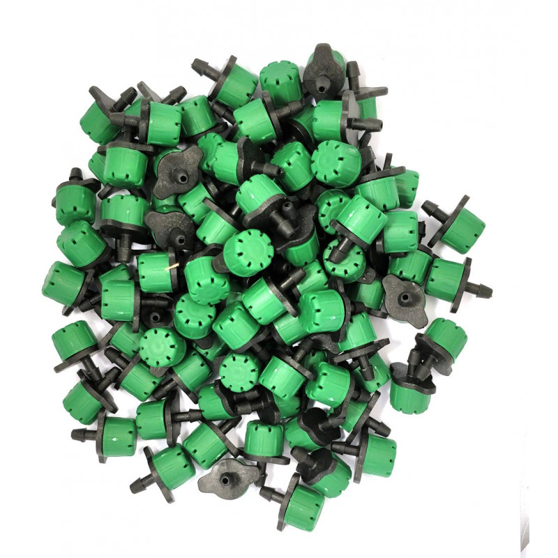 Lot of 100 emitters color green