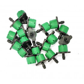 Set of 20 green color drippers