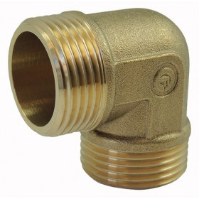 Screw-in brass fitting: Elbow Male / Male