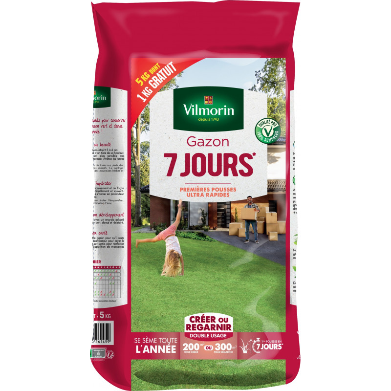 Grass 7 days 5 kg including 1 kg free