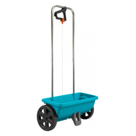 Fertilizer spreader or lawn L on wheels Gardena