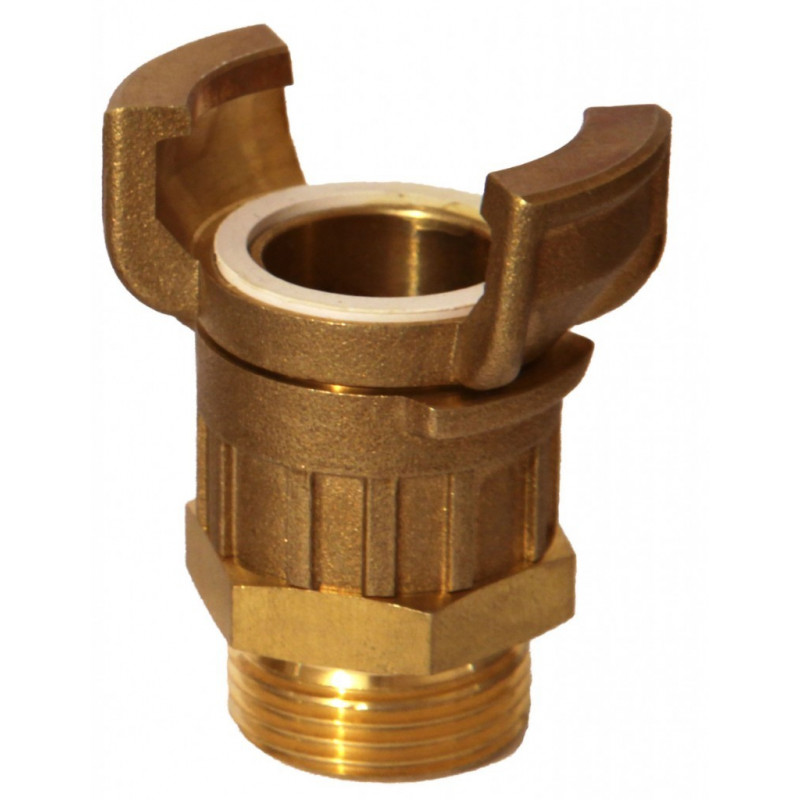 Guillemin Symmetrical Half Connector with Threaded Male Socket Lock in Copper Alloys