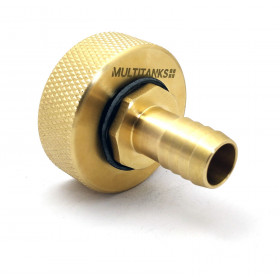 S60x6 Female Fitting - 20mm Brass Spline Tip