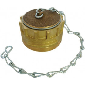 Symmetrical Guillemin stopper with lock and chain in copper alloys