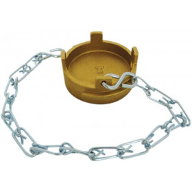 Symmetrical cap Guillemin dish type padlockable irrigation with chain in copper alloys