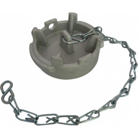 Guillemin symmetrical flat cap, padlockable irrigation type, with chain, in stainless steel