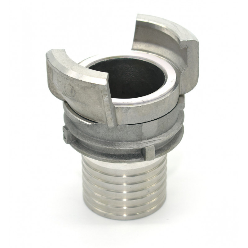 Half symmetrical Guillemin connector with corrugated socket - aluminum