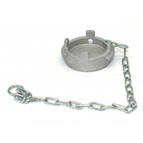 Symmetrical cap Guillemin dish type irrigation padlockable with chain