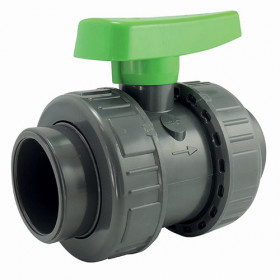Double Union ball valve - irrigation series - female connection to stick