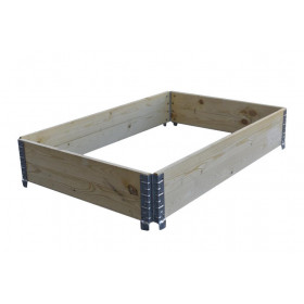 BIOEMPILOBOITE pallet rack in natural wood