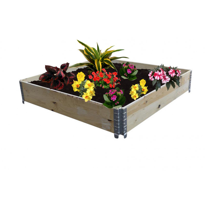 Square vegetable garden in natural wood 800x800mm