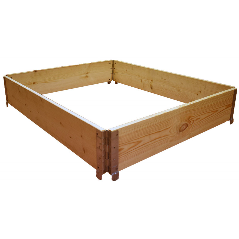 Square vegetable garden in natural wood 800x600mm