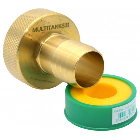 S60x6 female fitting - brass flanged end 33mm