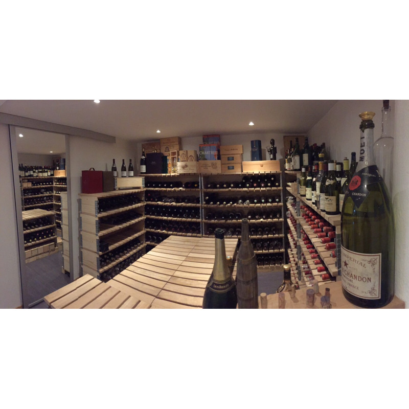 Natural wine cellar cabinet length 120 cm