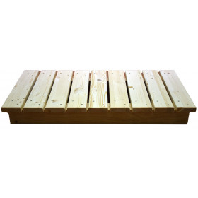 1000mm base cover made of natural wood