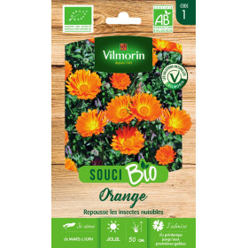 Sachet graines Souci Orange BIO - Calendula officinalis