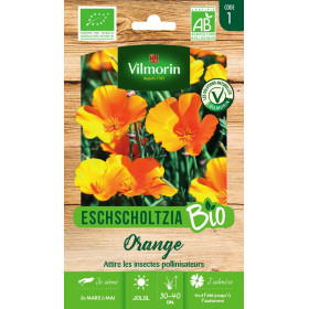 Sachet graines Eschscholtzia Orange BIO - Eschscholzia californica