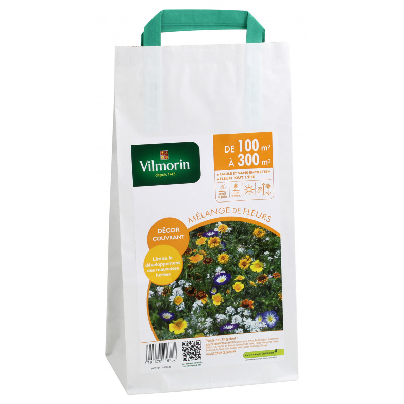 Seed bag Blend of flowers Covering 100 to 300m2