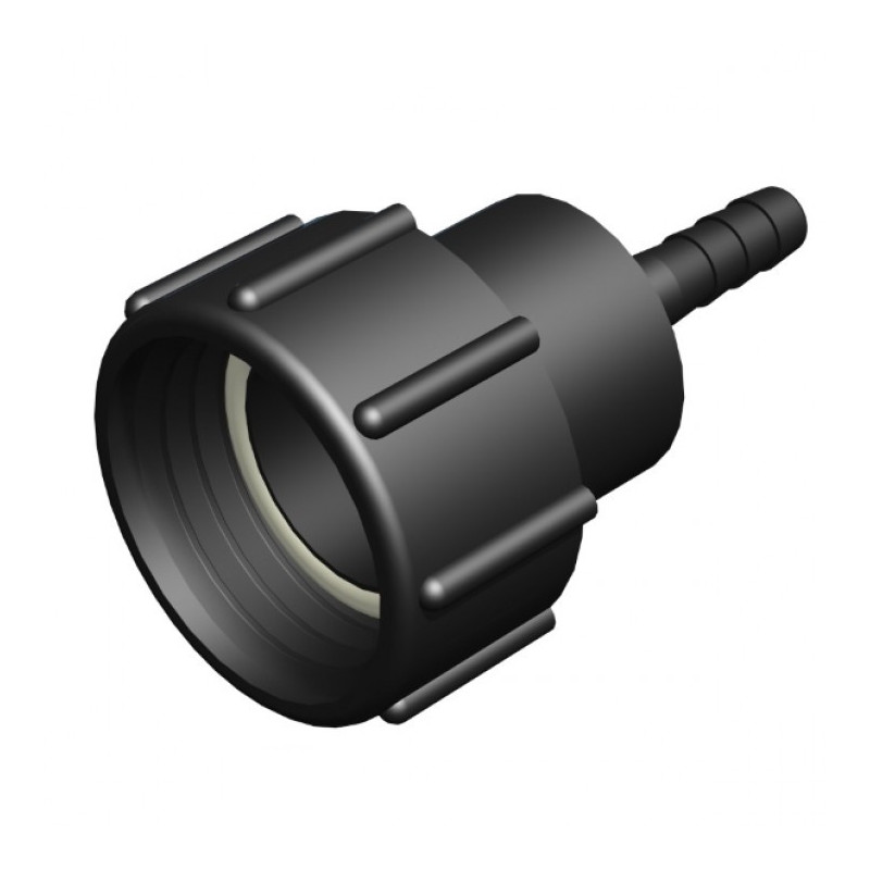 """Female connector 2 """"S60x6 - straight fluted male Ø 25mm"""