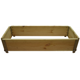 Kitchen garden square natural wood 600x600mm
