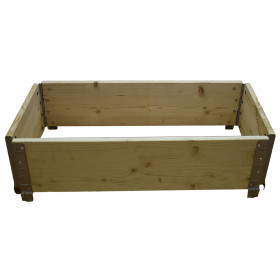 Square vegetable garden in natural wood 1000x400mm